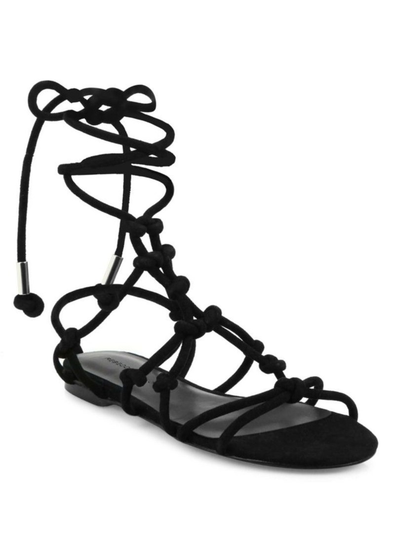 Rebecca Minkoff Elyssa Knotted Suede Sandals