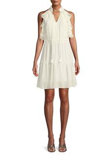 Rebecca Minkoff Emi Sleeveless Ruffle Dress w/ Cutout Back
