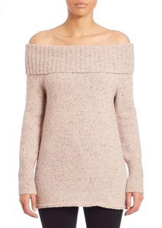 Rebecca Minkoff Erid Off-the-Shoulder Merino Wool Blend Sweater