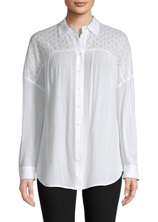 Rebecca Minkoff Eyelet Embroidery Shirt