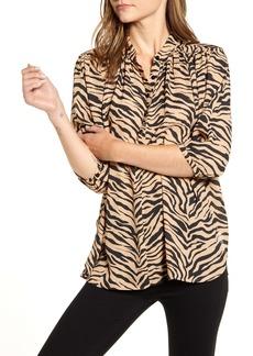 Rebecca Minkoff Fleur Zebra Print Top