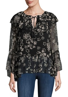 Rebecca Minkoff Floral Ruffle Blouse
