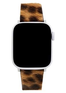 Rebecca Minkoff Genuine Calf Hair Apple Watch® Strap