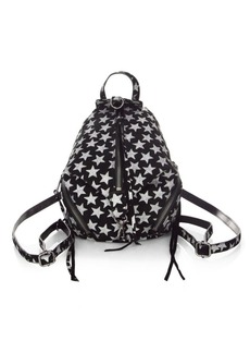 Rebecca Minkoff Glitter Stars Convertible Mini Julian Suede Backpack