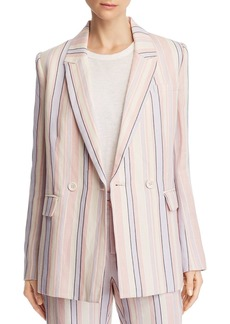 Rebecca Minkoff Grace Striped Double-Breasted Blazer