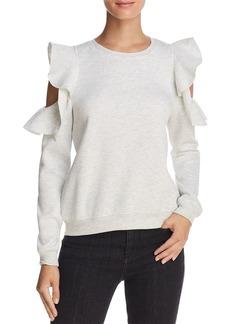 Rebecca Minkoff Gracie Ruffled Cold-Shoulder Sweatshirt