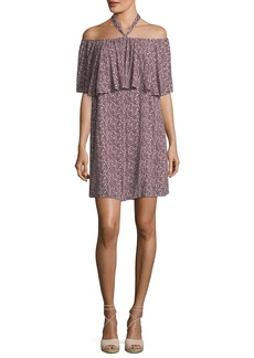 Rebecca Minkoff Havasu Rose-Printed Halter Mini Dress