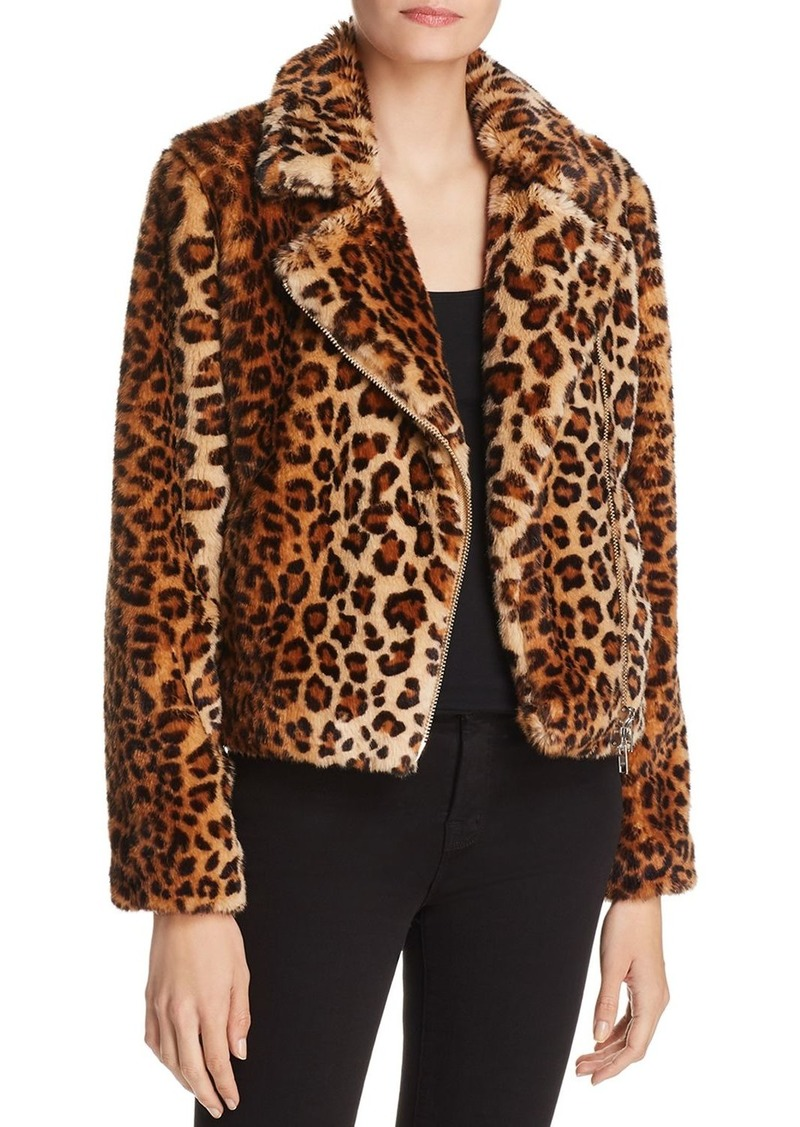 super popular wholesale later Hudson Faux-Fur Leopard Jacket