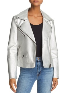 Rebecca Minkoff Hudson Metallic Moto Jacket