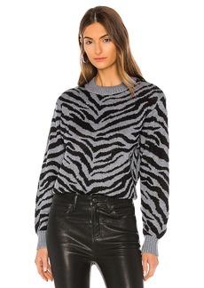 Rebecca Minkoff Jax Zebra Intarsia Pullover