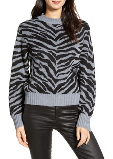 Rebecca Minkoff Jax Zebra Jacquard Sweater