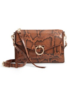 Rebecca Minkoff Jean Mac Snake Embossed Leather Convertible Crossbody Bag