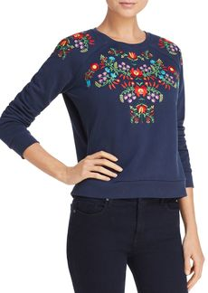 Rebecca Minkoff Jennings Floral-Embroidered Sweatshirt