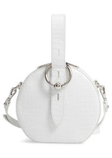 Rebecca Minkoff Kate Embossed Leather Circle Bag