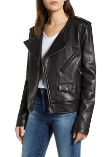 Rebecca Minkoff Katrina Textured Leather Moto Jacket