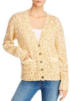 Rebecca Minkoff Kerry Leopard Print Cardigan