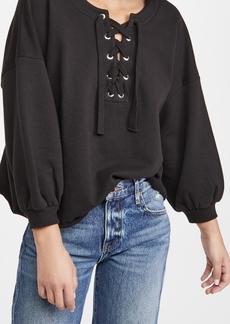 Rebecca Minkoff Lace Up Sweatshirt