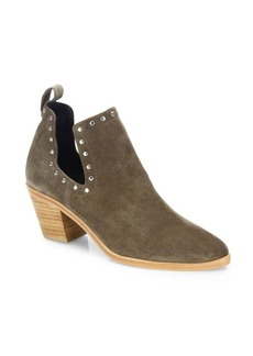 Rebecca Minkoff Lana Studded Cutout Suede Booties