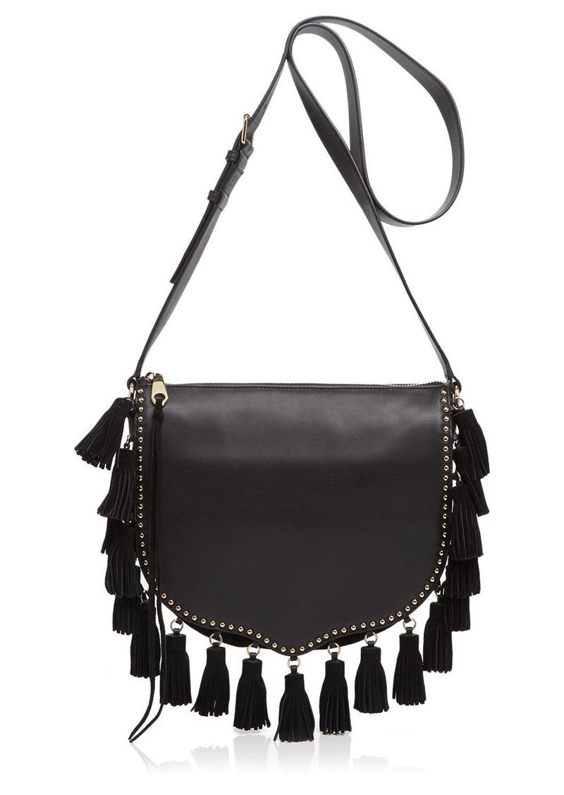 Rebecca Minkoff Large Multi-Tassel Saddle Bag