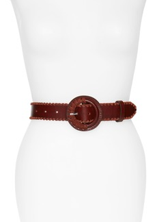 Rebecca Minkoff Layla Whipstitch Leather Belt