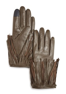 Rebecca Minkoff Leather Fringe Tech Gloves