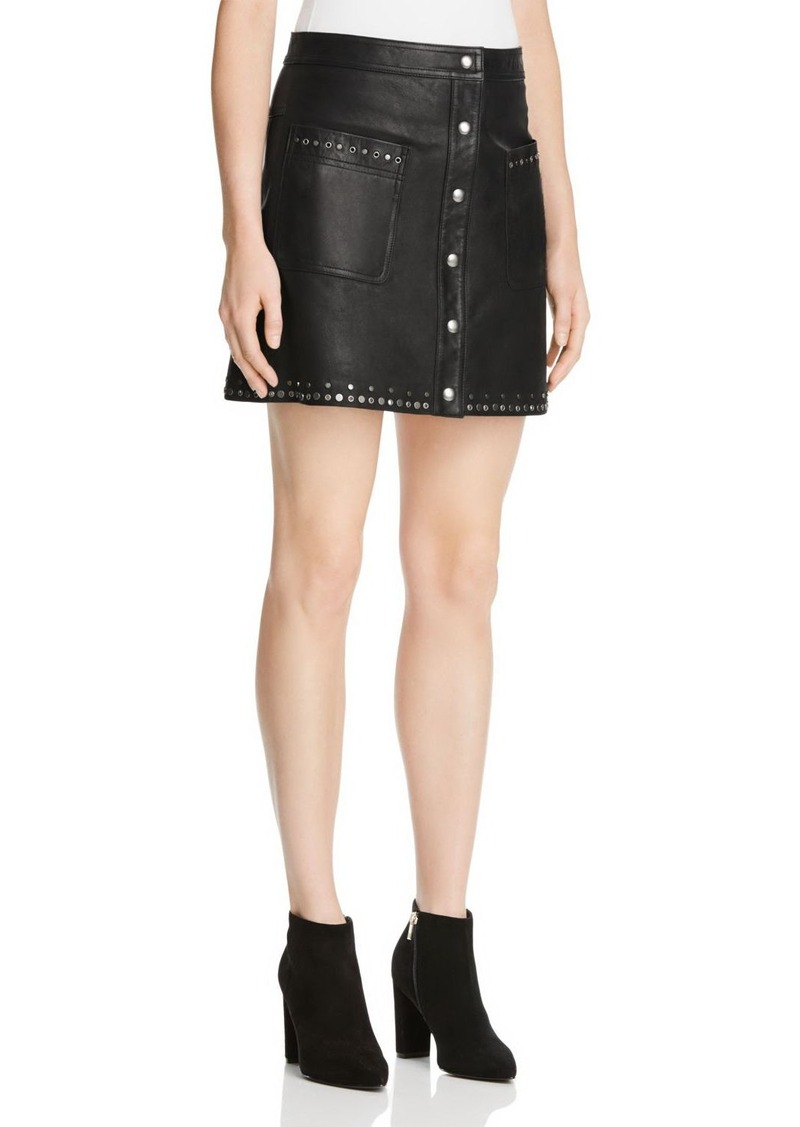 Rebecca Minkoff Leather Rockin' Skirt - 100% Exclusive