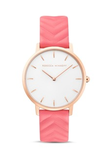 Rebecca Minkoff Leather Strap Major Watch, 35mm