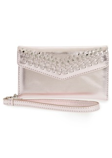 Rebecca Minkoff Leather Whipstitch iPhone 7 Wristlet