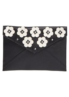 Rebecca Minkoff Leo Floral Appliqué Envelope Clutch