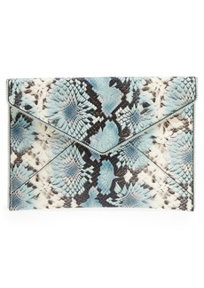 Rebecca Minkoff Leo Snake Embossed Leather Clutch