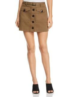 Rebecca Minkoff Levy Button-Up Mini Skirt