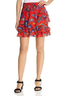 Rebecca Minkoff Lila Tiered Floral Skirt
