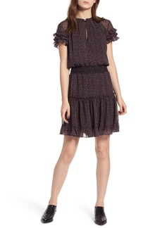Rebecca Minkoff Lillian Floral Smocked Blouson Dress