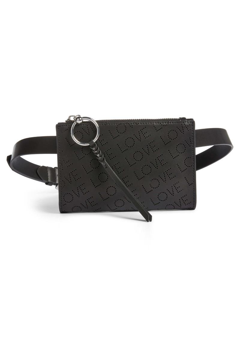 Rebecca Minkoff Love Perforated Leather Belt Bag