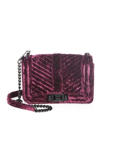 Rebecca Minkoff Love Small Chevron Quilted Velvet Crossbody Bag