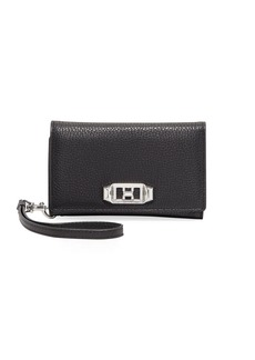 Rebecca Minkoff Lovelock Leather Wristlet Phone Bag with Silvertone Hardware - iPhone 8/7
