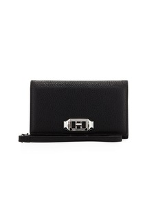 Rebecca Minkoff Lovelock Leather Wristlet Phone Bag with Silvertone Hardware - iPhone X