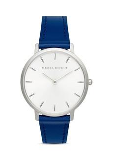 Rebecca Minkoff Major Blue Leather Strap Watch, 35mm