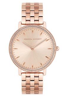 Rebecca Minkoff Major Crystal Bezel Bracelet Watch, 35mm