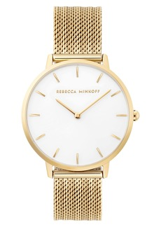 Rebecca Minkoff Major Mesh Strap Watch, 35mm