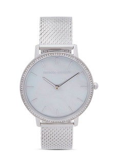 Rebecca Minkoff Major Pav� Detail Mesh Bracelet Watch, 35mm
