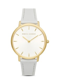Rebecca Minkoff Major White Dial Watch, 35mm