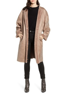 Rebecca Minkoff Mara Faux Shearling Lined Wool Coat