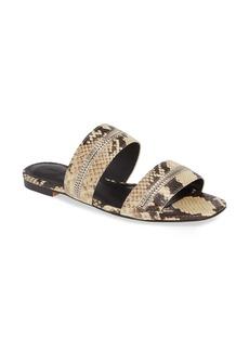 Rebecca Minkoff Marciann Snake Embossed Slide Sandal (Women)