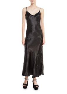 Rebecca Minkoff Max Sleeveless V-Neck Bias-Cut Satin Slip Dress