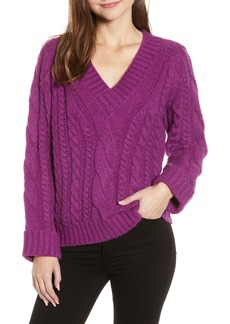 Rebecca Minkoff Maxine Cable Knit Sweater