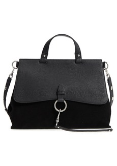 Rebecca Minkoff Medium Keith Suede & Leather Satchel