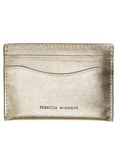 Rebecca Minkoff Metallic Leather Card Case