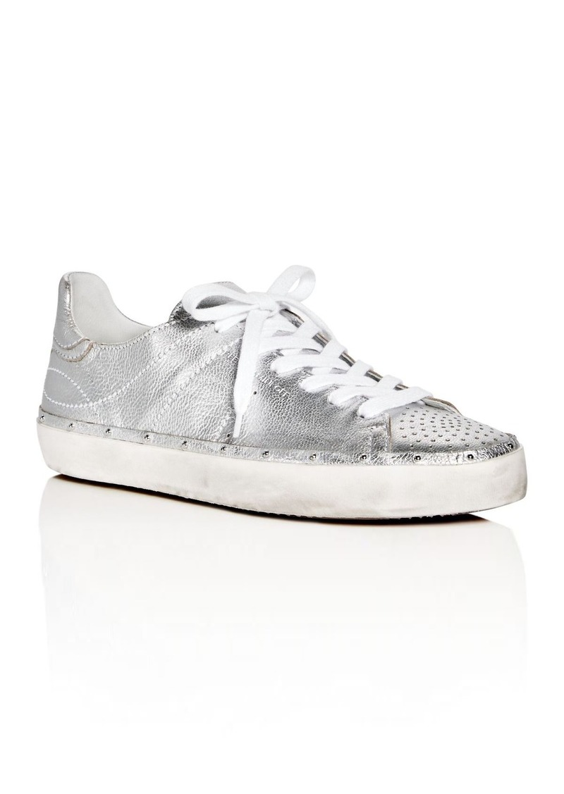 under $60 online cheap original Rebecca Minkoff Metallic Leather Sneakers brand new unisex sale online k0MozGvi