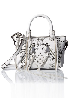 Rebecca Minkoff Micro Moto Satchel with Studs Cross Body
